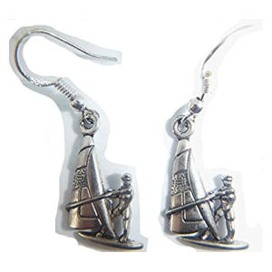 Tibetan Silver Windsurfer Earrings