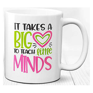Tutor Big Heart Mug