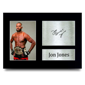 UFC Jon Jones Autograph Picture