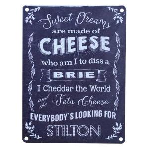 Vintage Cheese Metal Sign
