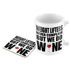 Weightlifters Novelty Mug and Coaster Set