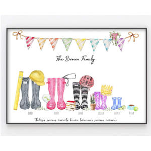 Wellington Boot Family Print
