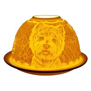 Westie Dog Candle Holder