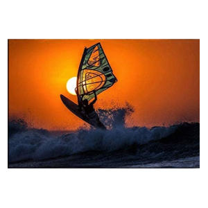 Windsurfing Sunset Canvas