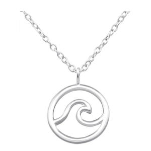 Women's Surfer Wave Pendant