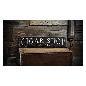 Wooden Cigar Shop Sign