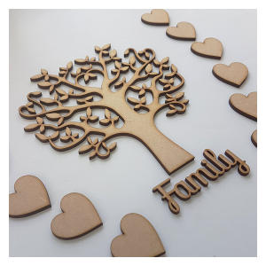 Wooden Family Tree Shape
