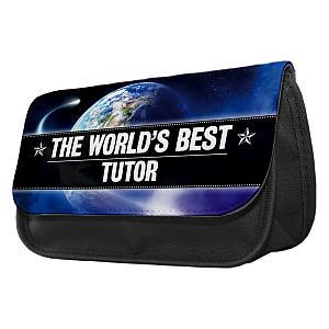 World's Best Tutor Pencil Case