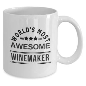 World's Most Awesome Winemaker Ceramic Coffee Mug