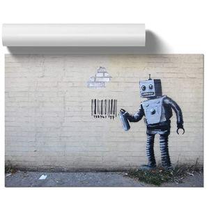 Banksy Robot Graffiti Wall Art