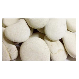 1kg Ivory White Beach Stones