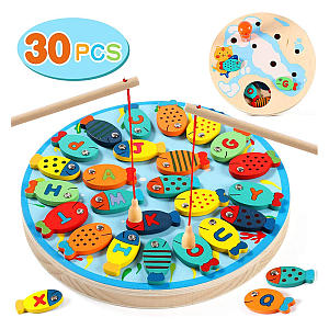 2 In 1 Wooden Magnetic Fishing Game