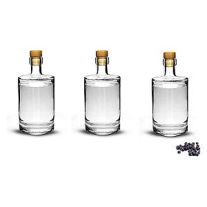 3 Flint Glass Distilling Bottles