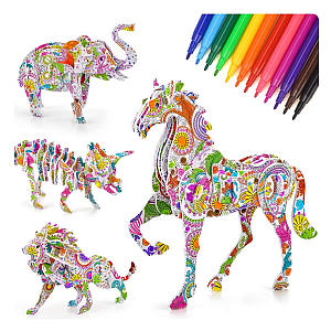 3D Coloring Puzzle Art and Crafts Set