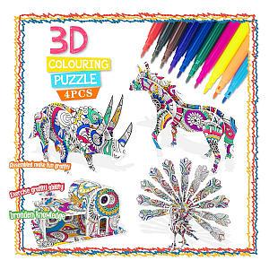 3D Colouring Puzzle Set