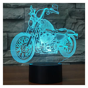 3D Illusion Lamp Motorcycle Model