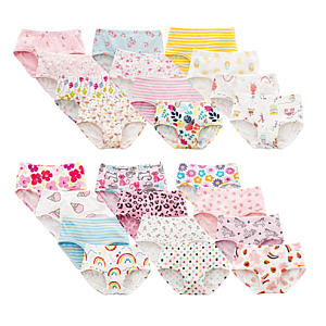 6 Pack Girls' Cotton Briefs