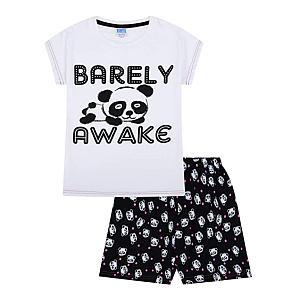 Barely Awake Panda Short Pyjamas