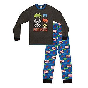 Boys Game Over Long Pyjamas