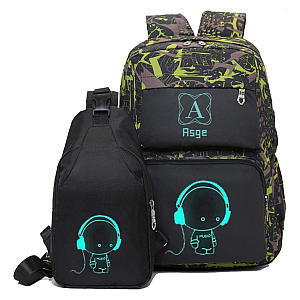 Camo Casual Backpack Set