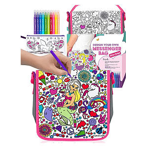 Colour Your Own Messenger Bag