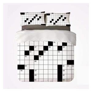 Crossword Double Duvet Cover Set