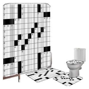Crossword Shower Curtain Set