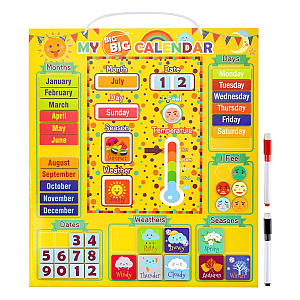 Daily Magnetic Calendar Preschool Learning Toy
