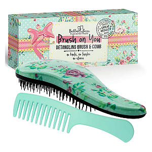 Detangling Hair Brush and Comb Set