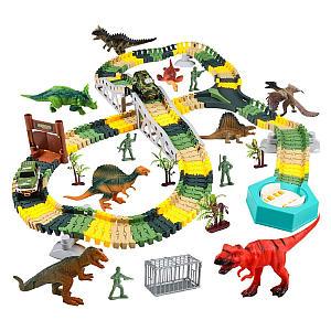 Dinosaur Race Track Car Toy Set