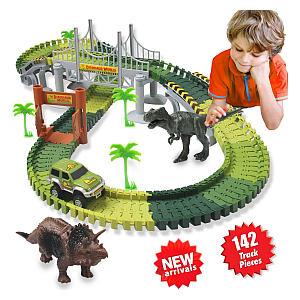 Dinosaur Toys Car Race Track