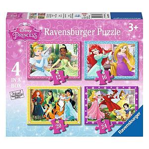 Disney Princess 4 Jigsaw Puzzles