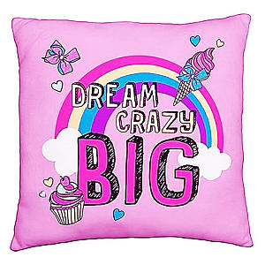 Dream Crazy Big Pink Cushion