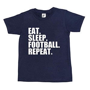 Eat Sleep Football Repeat T Shirt