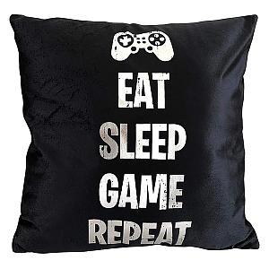 Eat Sleep Game Repeat Cushion