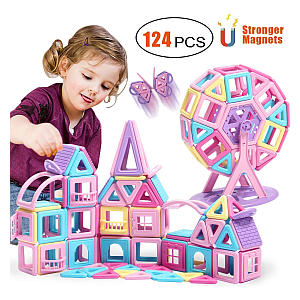 Educational Stacking Toy with Castle Cards