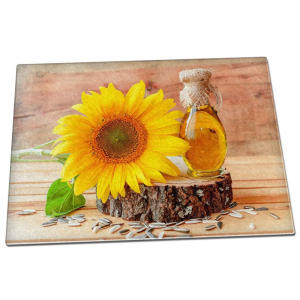 Sunflower Glass Chopping Board
