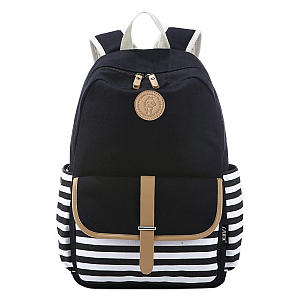 French Breton Nautical Striped Backpack
