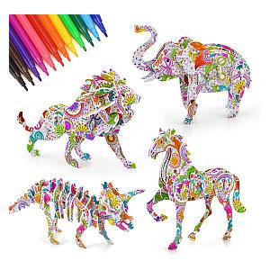 Fun 3D Coloring Puzzle Set