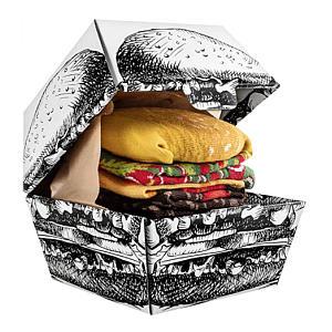 Funny Burger Socks Box X 2
