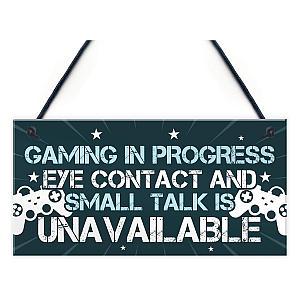 Funny Gaming Bedroom Door Sign