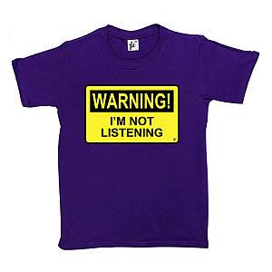 Funny 'I'm Not Listening' T Shirt