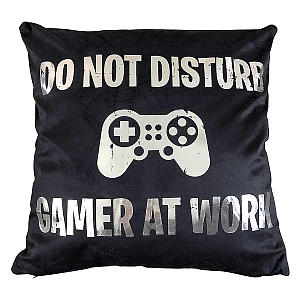 Gamer At Work Cushion Cover