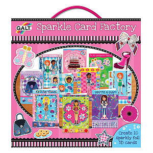 Girl Club Sparkle Card Factory
