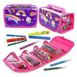 GirlZone Fruit Scented Markers and Pencil Case