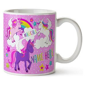 Girls Cute Personalised Unicorn Mug