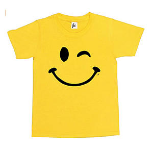 Happy Funny Winking Girls T Shirt