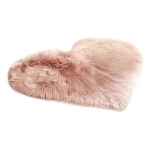 Heart Faux Fur Shaggy Carpet