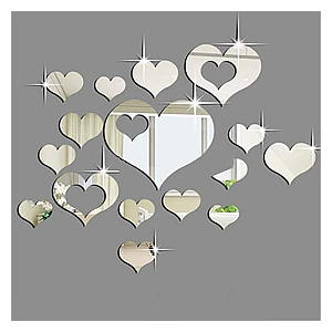 Heart Mirror Wall Stickers