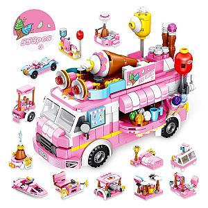 Ice Cream Truck Building Blocks Set